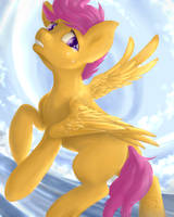 Scootaloo - If these Wings could fly by TokoKami