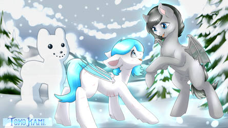Old YCH - Snowy Days by TokoKami