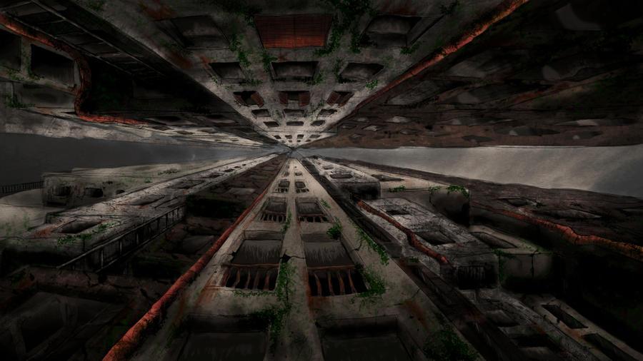 Post-apocalyptic city by Sombrelys on DeviantArt