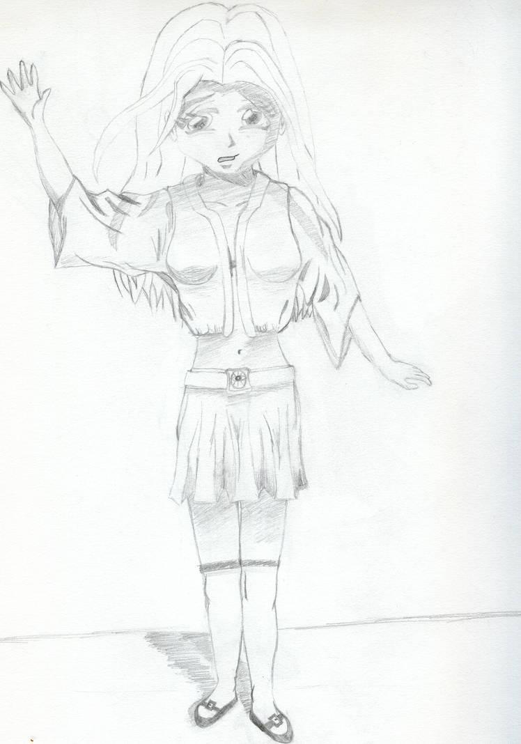 Full body girl sketch by thifenos