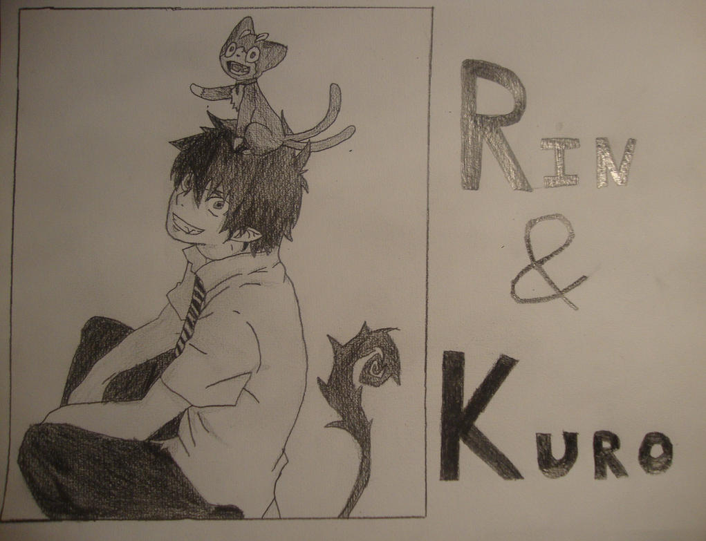 Les dessins de Mearyuh  Blue_exorcist___rin_and_kuro_by_mewtwo1313-d7iyu1v