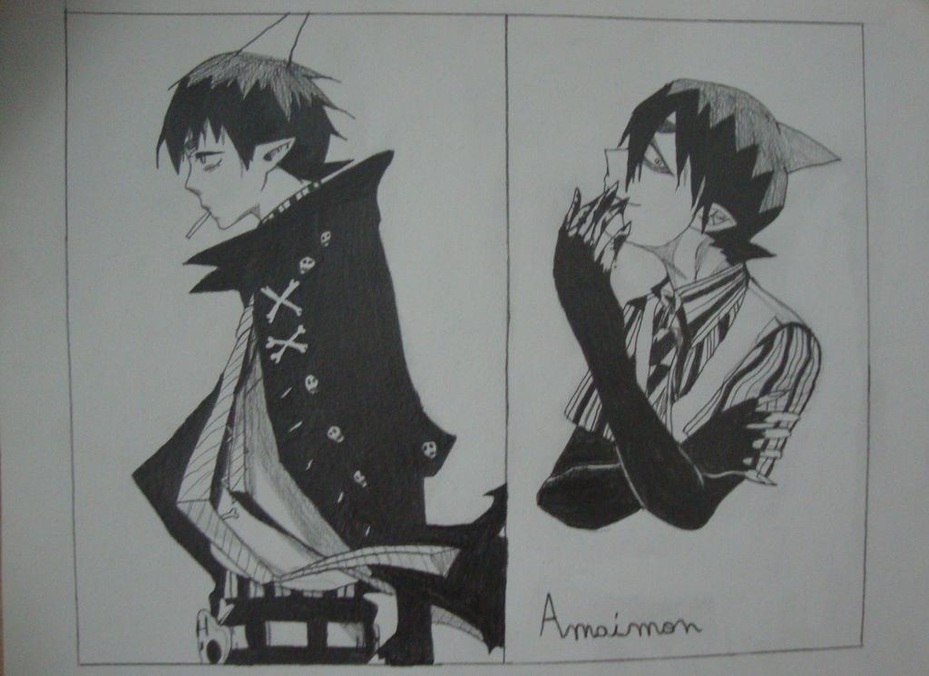 Les dessins de Mearyuh  Blue_exorcist___amaimon__2__by_mewtwo1313-d7obq1l