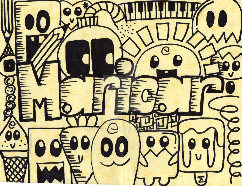 Name doodle 2 by czy 143 on deviantart for Simple doodle designs with names
