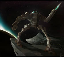 Patrolling the Spaceship by Laremeister