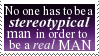 man stereotype stamp by b00b-B-gone