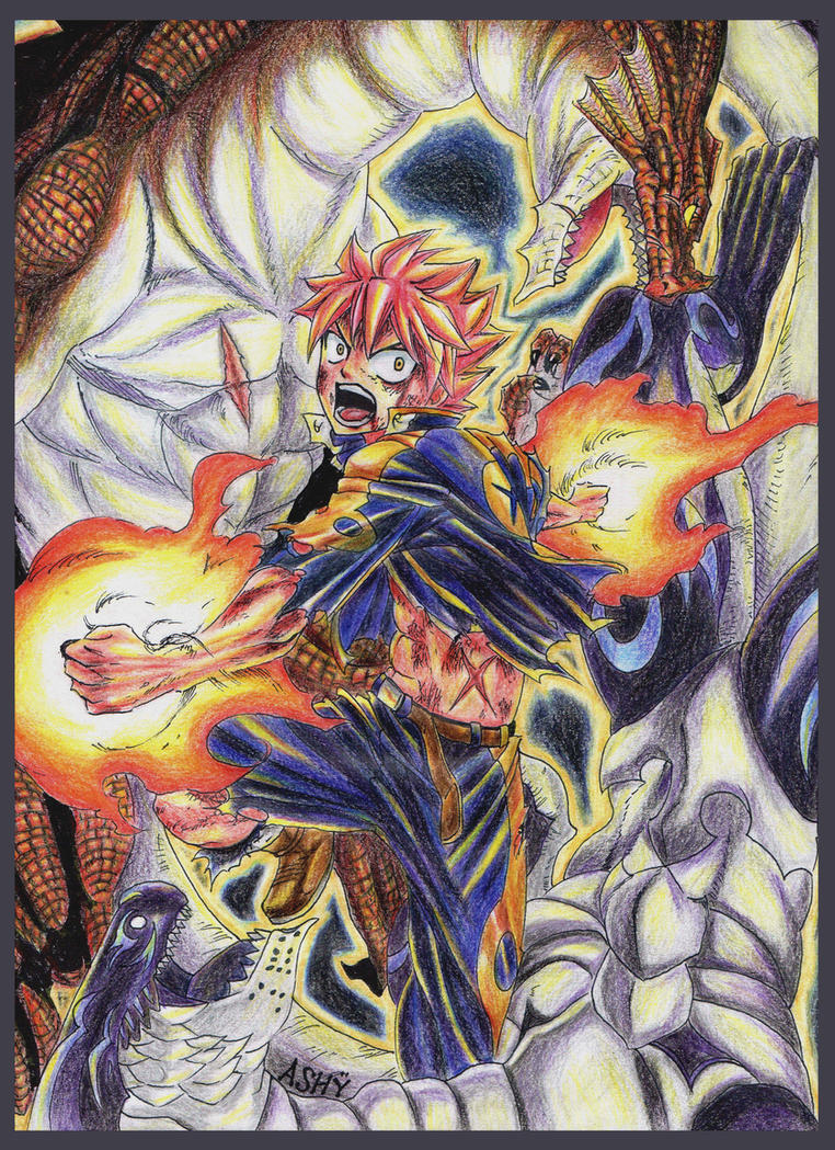 Natsu Dragneel x Igneel and Acnologia by Ashreille-chan on ...