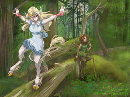 Forest Playtime by Dapper-Cat
