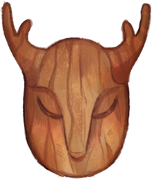 Unpainted Satyr Mask by Browbird