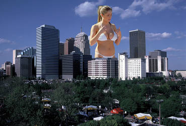 Giantess City Hot Bikini Thong