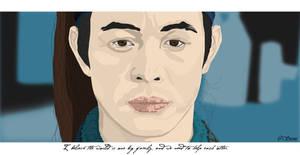 Jet Li hero by beingstoned