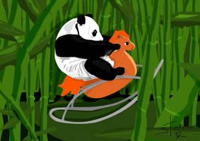 Panda by beingstoned