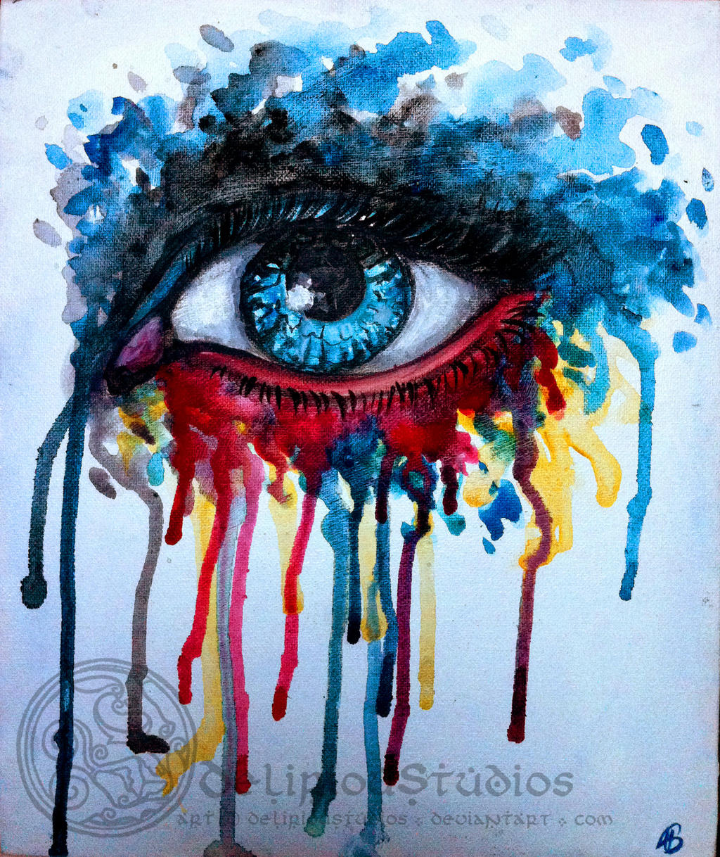 Big Canvas Art Modern Watercolor Abstract Ink Splash Big: Splash Eye By DeliriouStudios On DeviantArt