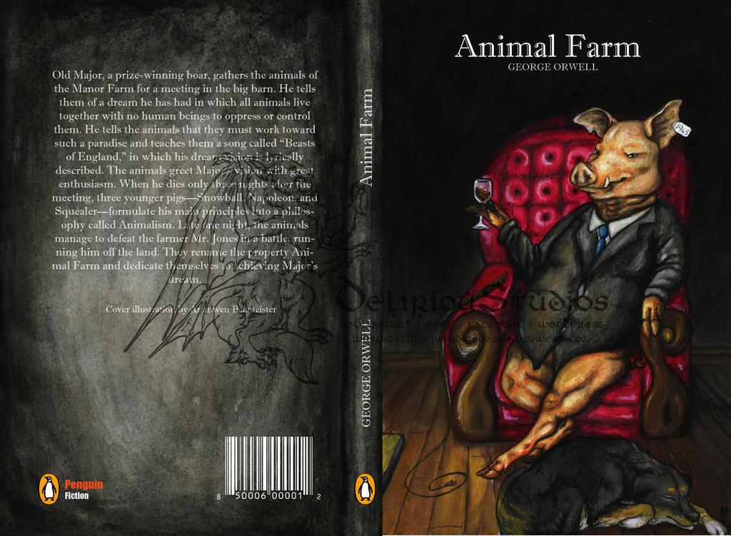Animal Farm Book Cover Design By Delirioustudios On Deviantart