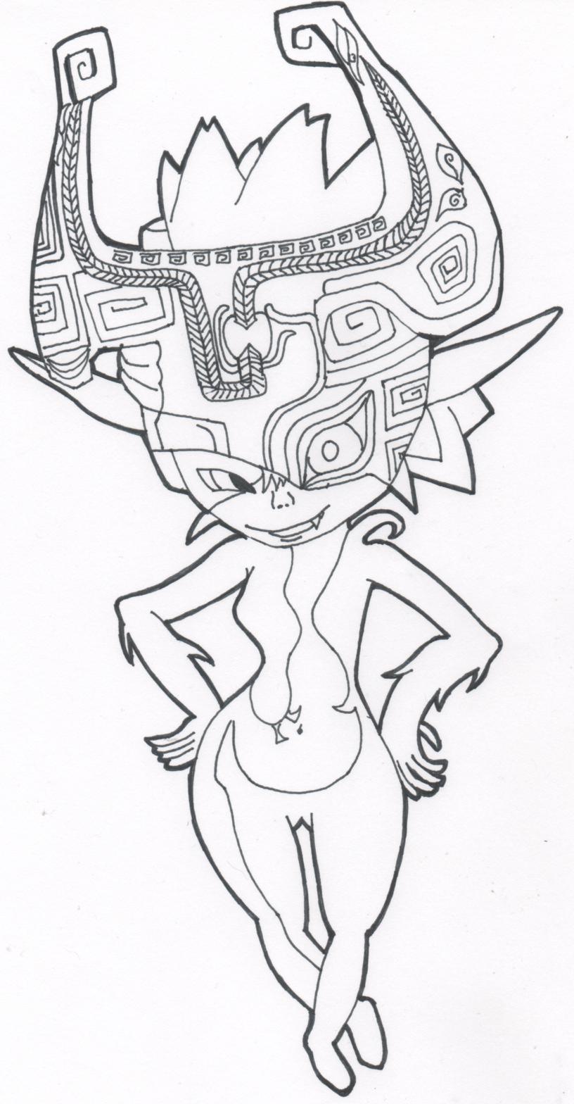 midna lineart by cute tiger on deviantart