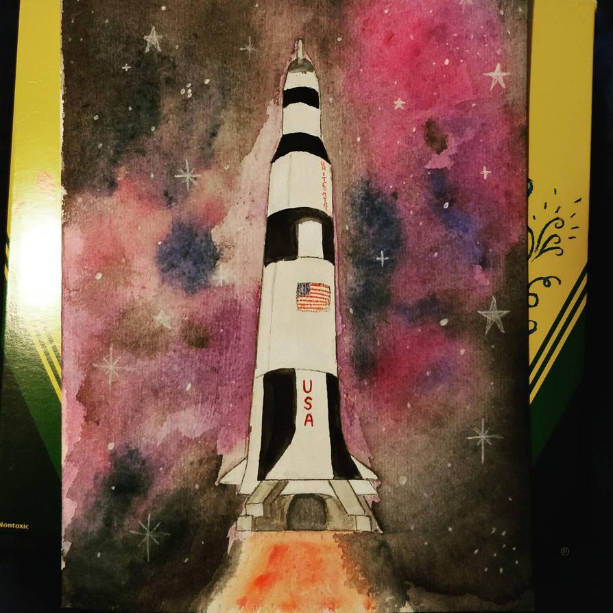 Saturn V  by cute-tiger