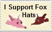 I Support Fox Hats- Stamp (OLD) by NatureAndDragons