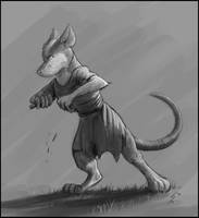 An Angry Redwall Mouse by Temiree
