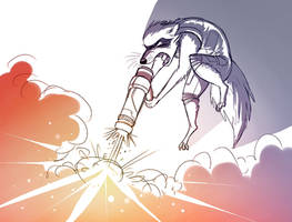 Rocket Raccoon by Temiree