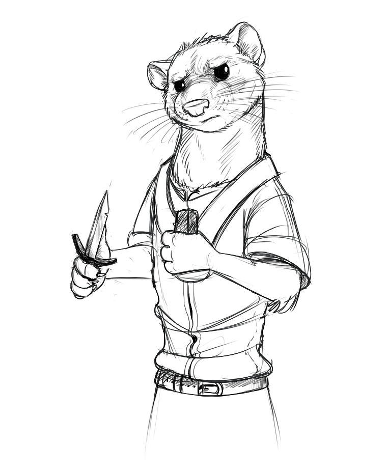 Long Tailed Weasel Redwall Style By Temiree On Deviantart