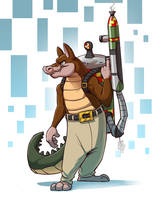 Dingodile (Crash Bandicoot) by Temiree