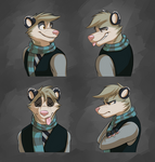Commission: Diego's Expression Sheet