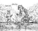 Commission: HugeWolf (Fishing)