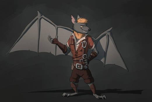 Commission: Reticent-Stories (Fruit Bat Rogue)