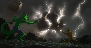 Commission: Adryx-Dyrennin (Magic Battle)