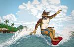 Commission: Gators97 (Surfin' Shepherd)