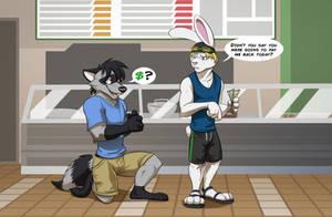 Commission: FoxyFriendBacklash (Just A Few Bucks?) by Temiree
