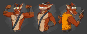 Commission: Darren Scaler Stickers by Temiree