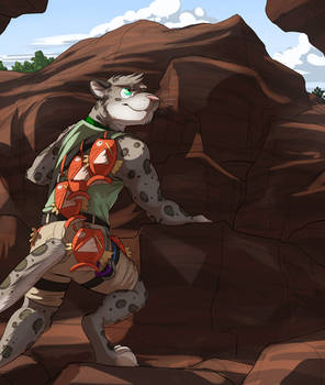 Commission: Flurythecat (Climbing with Friends)