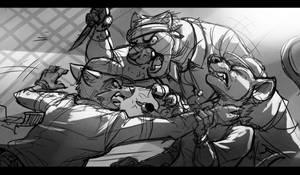 Commission: AwesomeCALIArtist (Back Lane Brawl)