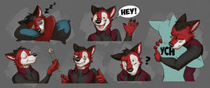 Commission: Ezo's Expression Sheet #3