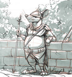 Rat Guard (Character Design) by Temiree