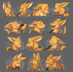 Commission: Spaxe's Expression Sheet