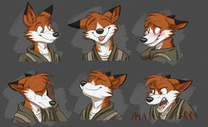 Commission: Luis's Expression Sheet by Temiree