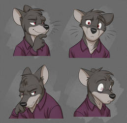 Commission: Daniel's Expression Sheet by Temiree