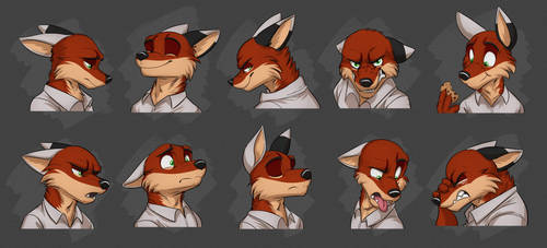 Commission: Benjamin's Expression Sheet by Temiree