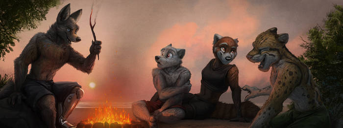 Commission: Keftense (Campfire Stories) by Temiree