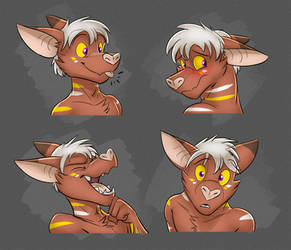 Commission: Specter's Expression Sheet #2