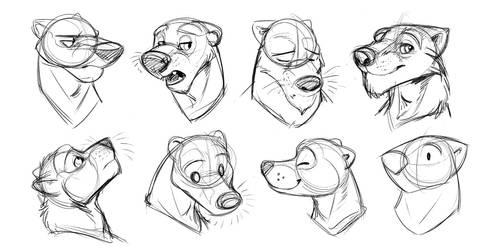 Badger Head Variations by Temiree