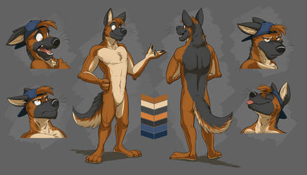 Commission: Waffles' Reference Sheet by Temiree