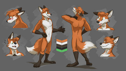 Commission: Lucky's Reference Sheet by Temiree