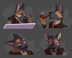 Commission: Jack Avco's Expression Sheet