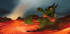 Commission: Come On In, The Lava's Fine!