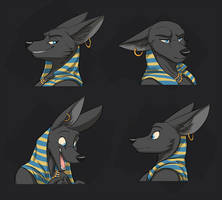 Commission: Lady Anubis's Expression Sheet