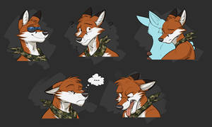 Commission: Luis's Expression Sheet #2
