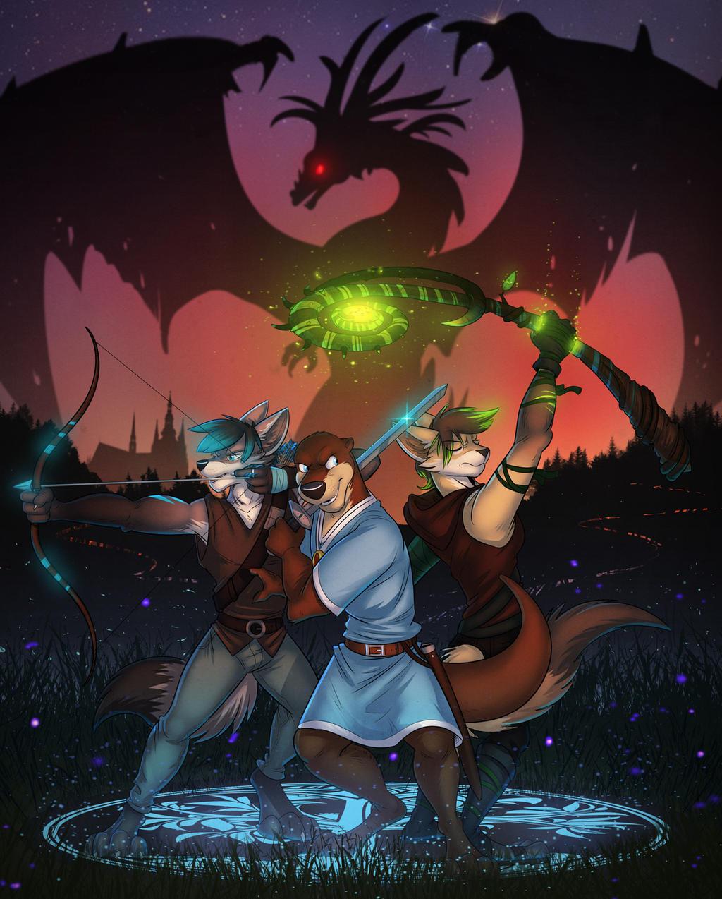 Commission: Takkin (Ready For Battle)