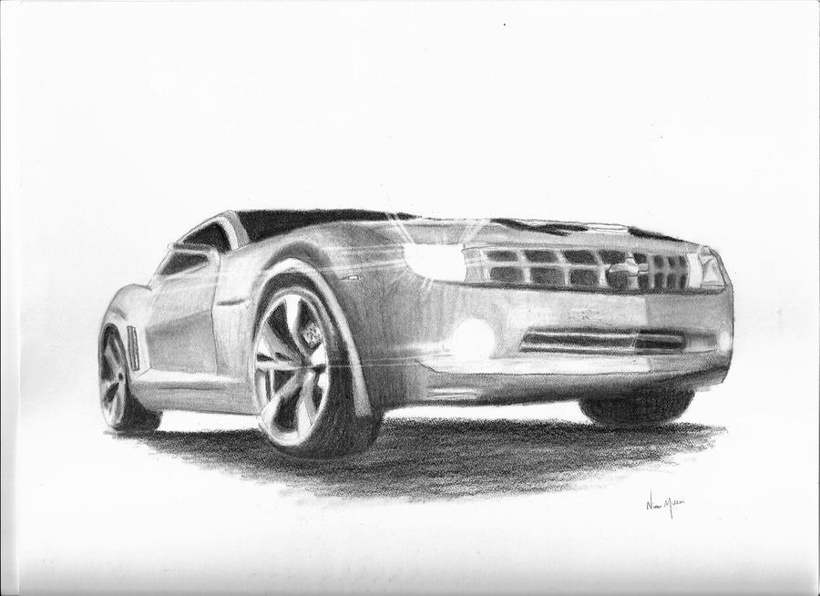 Camaro Sketch by Alley9 on DeviantArt